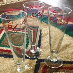 Tall Branded Beer Glasses